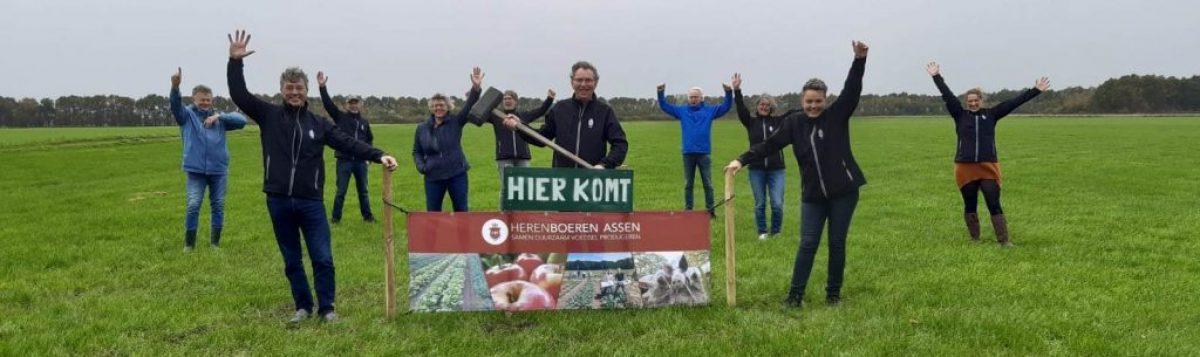 Ingebruikname terrein Herenboeren Assen, 1 november 2020