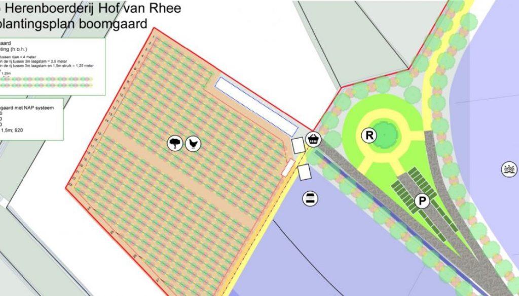 Beplantingsplan Hof van Rhee, HB Assen