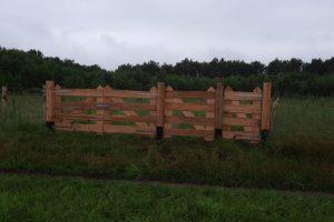 30 juni - hekken voor de boomgaard zijn klaar